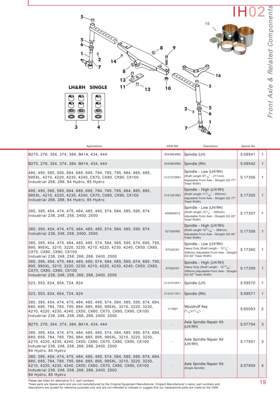 medium resolution of parts lists case ih catalogue front axle page 25