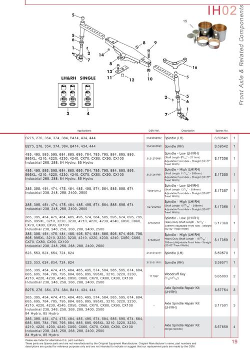 small resolution of parts lists case ih catalogue front axle page 25