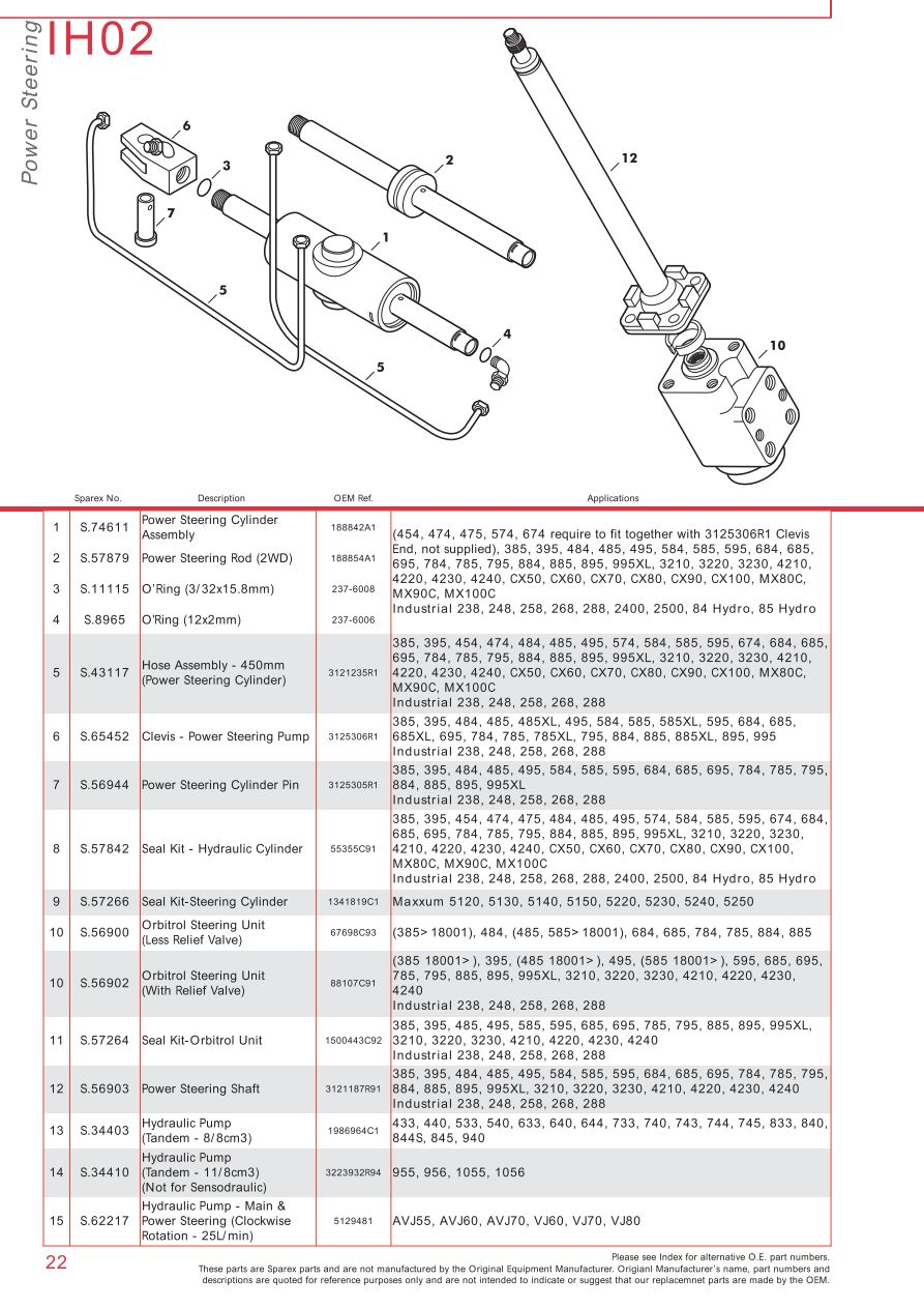 hight resolution of case ih catalogue front axle page 28 sparex parts lists hydraulic cylinder pressure case ih 685 hydraulic pump diagram on