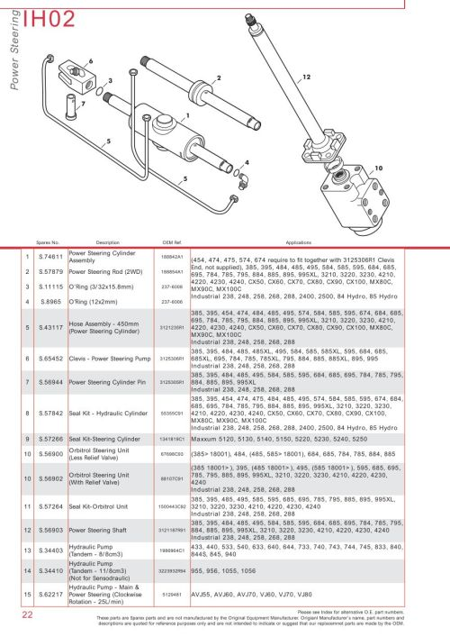 small resolution of parts lists case ih catalogue front axle page 28