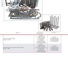 case ih catalogue engine page 64 sparex parts lists diagrams cross section of kubota valve train  [ 893 x 1263 Pixel ]