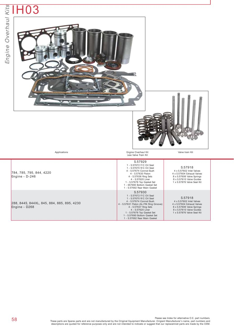 medium resolution of case ih catalogue engine page 64 sparex parts lists diagrams cross section of kubota valve train