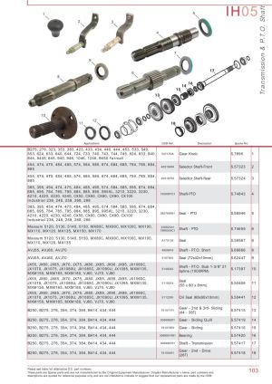 Case IH Catalogue Transmission & PTO (Page 109) | Sparex