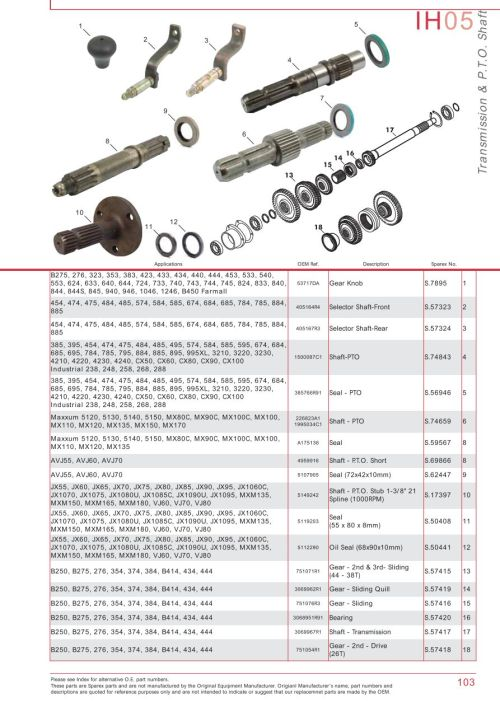 small resolution of case ih catalogue transmission pto page 109 sparex parts lists farmall international tractor