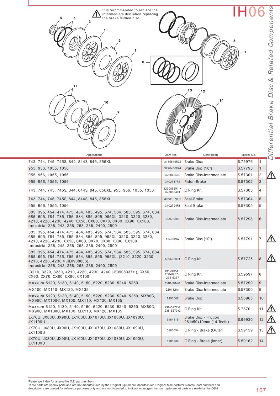 medium resolution of parts lists case ih catalogue brakes page 113