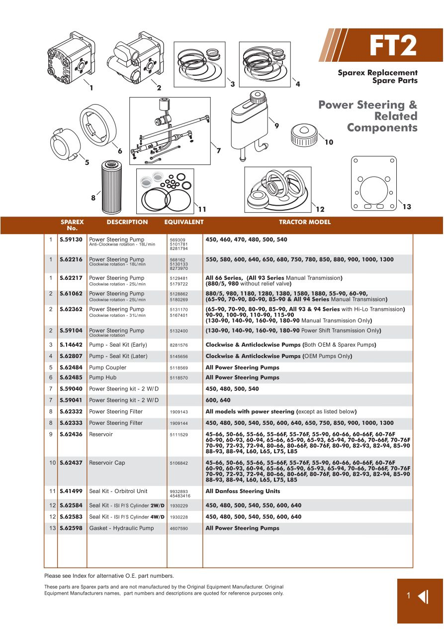 medium resolution of parts lists fiat steering page 13