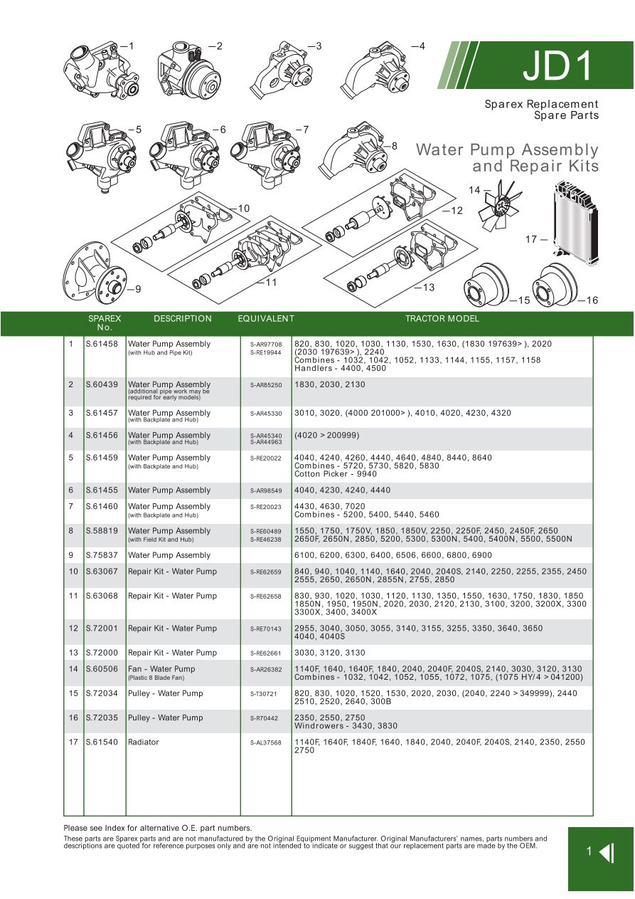 hight resolution of john deere front cover page 9 sparex parts lists diagrams rh malpasonline co uk