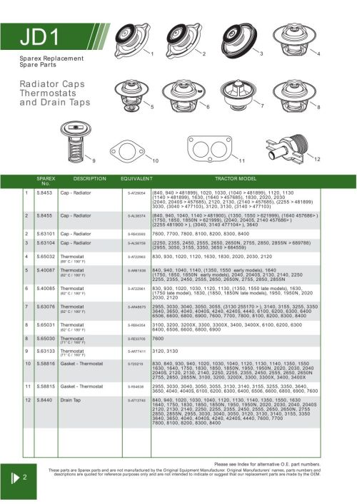small resolution of john deere contents page 10 sparex parts lists diagrams including john deere 820 john deere 6200 fuse box