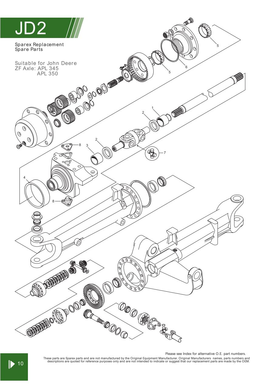 John Deere Front Axle, Steering & Related Components (Page