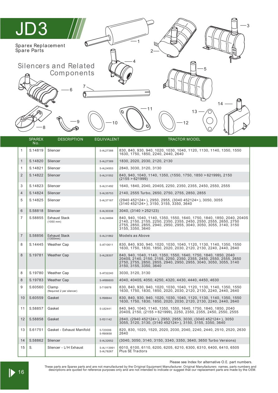 hight resolution of parts lists john deere engine replacement parts page 50