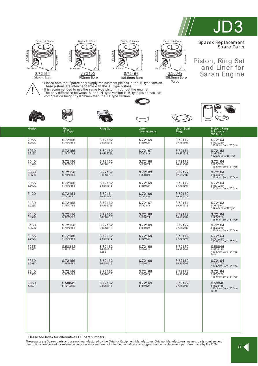 hight resolution of parts lists john deere engine replacement parts page 39
