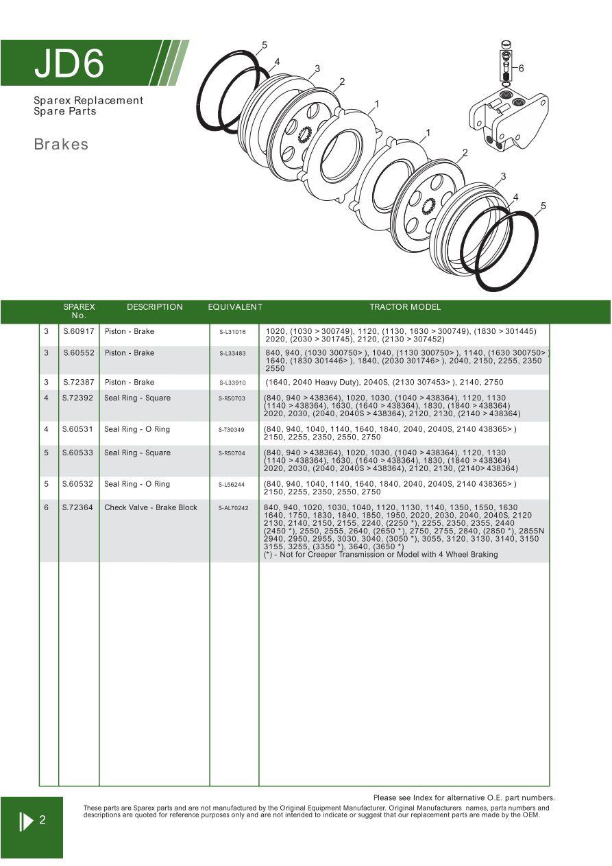 medium resolution of parts lists john deere brakes page 78