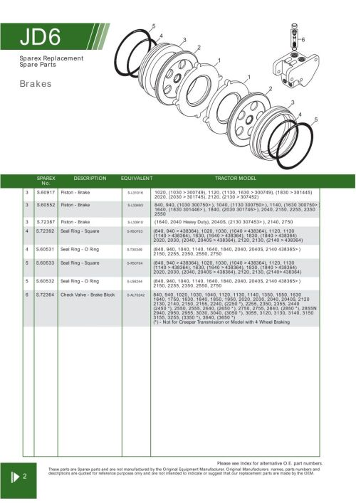 small resolution of parts lists john deere brakes page 78
