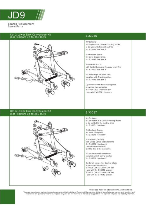 small resolution of parts lists john deere rear linkage related components page 90