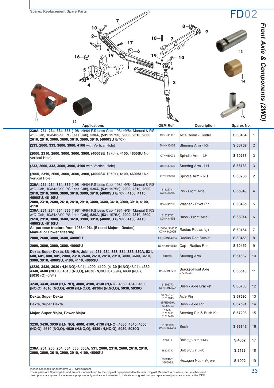 hight resolution of parts lists ford front axle page 39