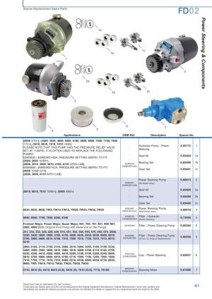 Ford Front Axle (Page 47) | Sparex Parts Lists & Diagrams