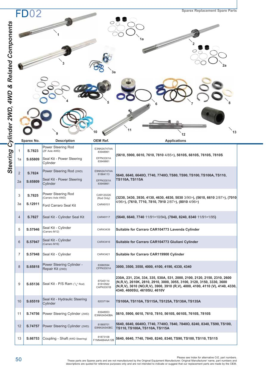 hight resolution of parts lists ford front axle page 56