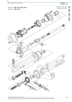 Ford Front Axle (Page 69) | Sparex Parts Lists & Diagrams