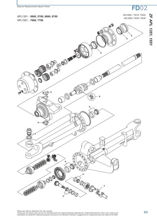 small resolution of parts lists ford front axle page 69