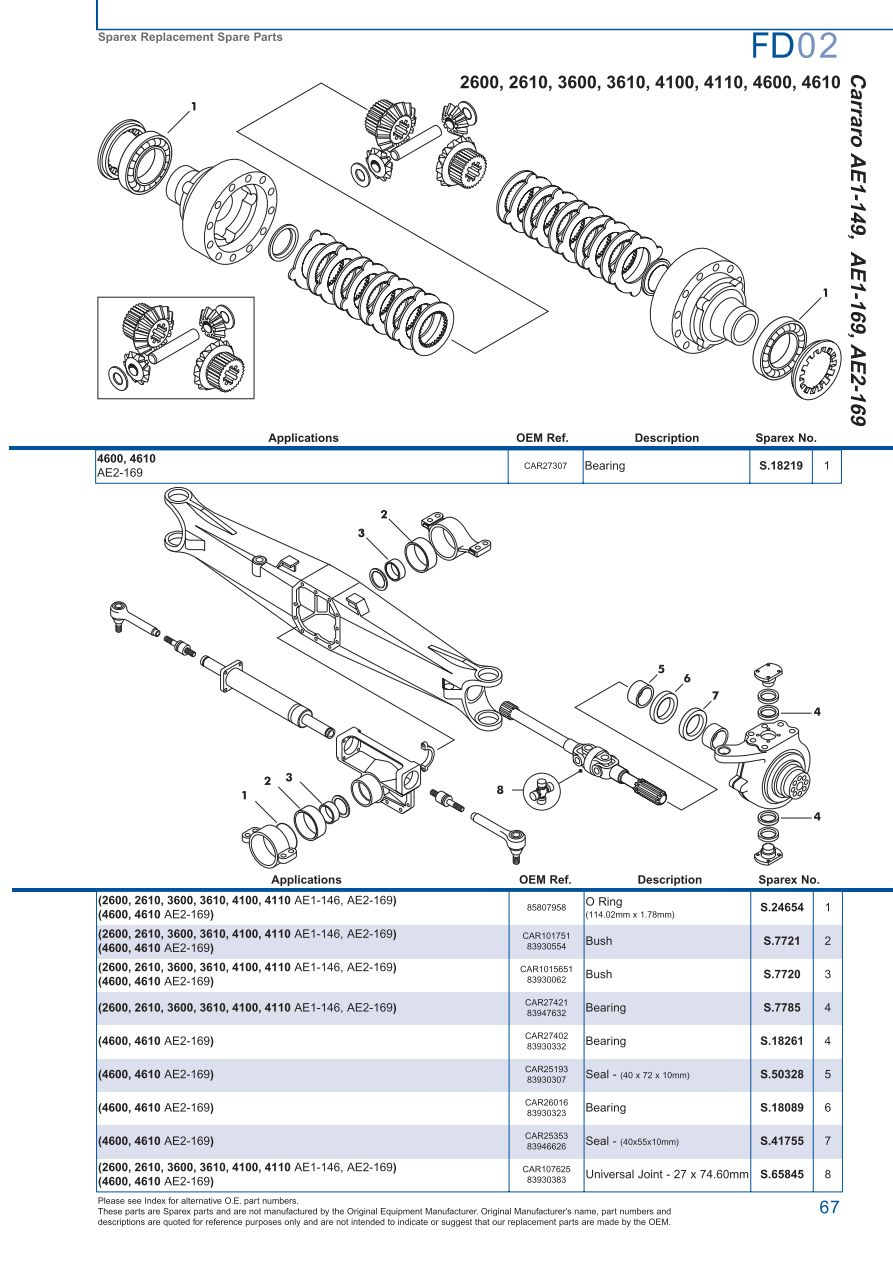hight resolution of ford 73 parts diagram wiring diagram third levelford front axle page 73 sparex parts