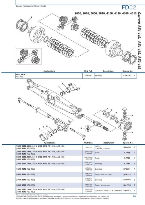 small resolution of ford 73 parts diagram wiring diagram third levelford front axle page 73 sparex parts