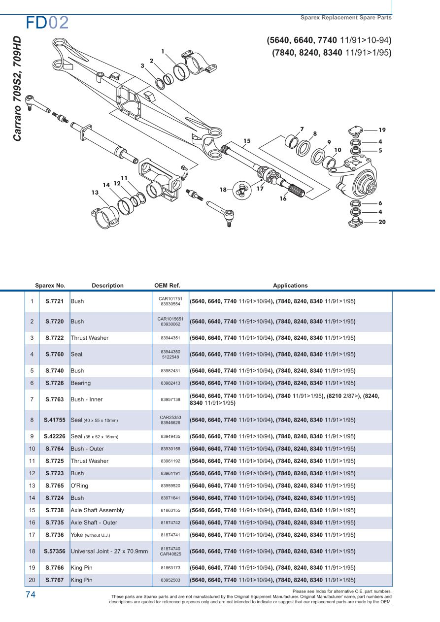 hight resolution of parts lists ford front axle page 80