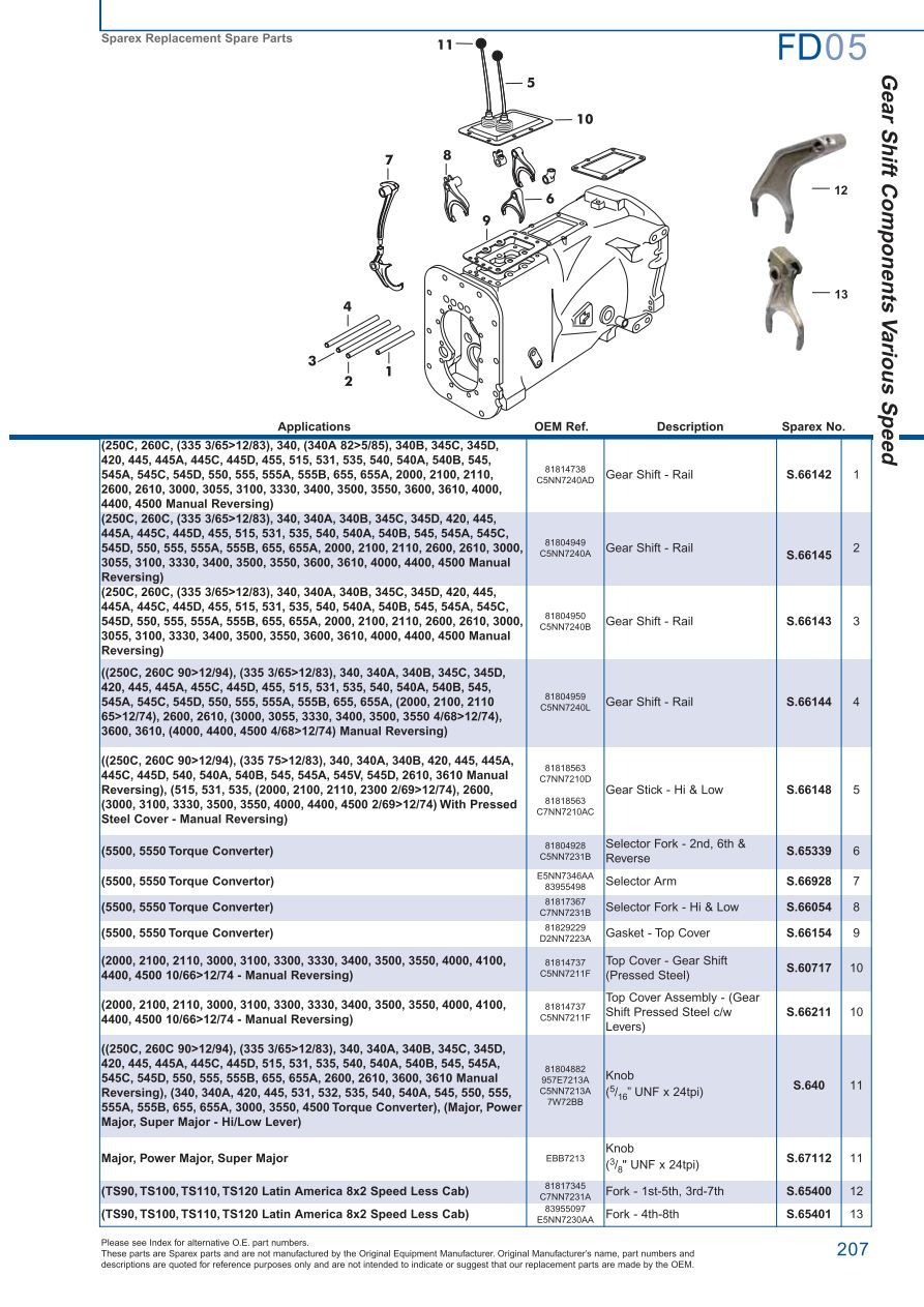 hight resolution of parts lists ford transmission p t o page 213