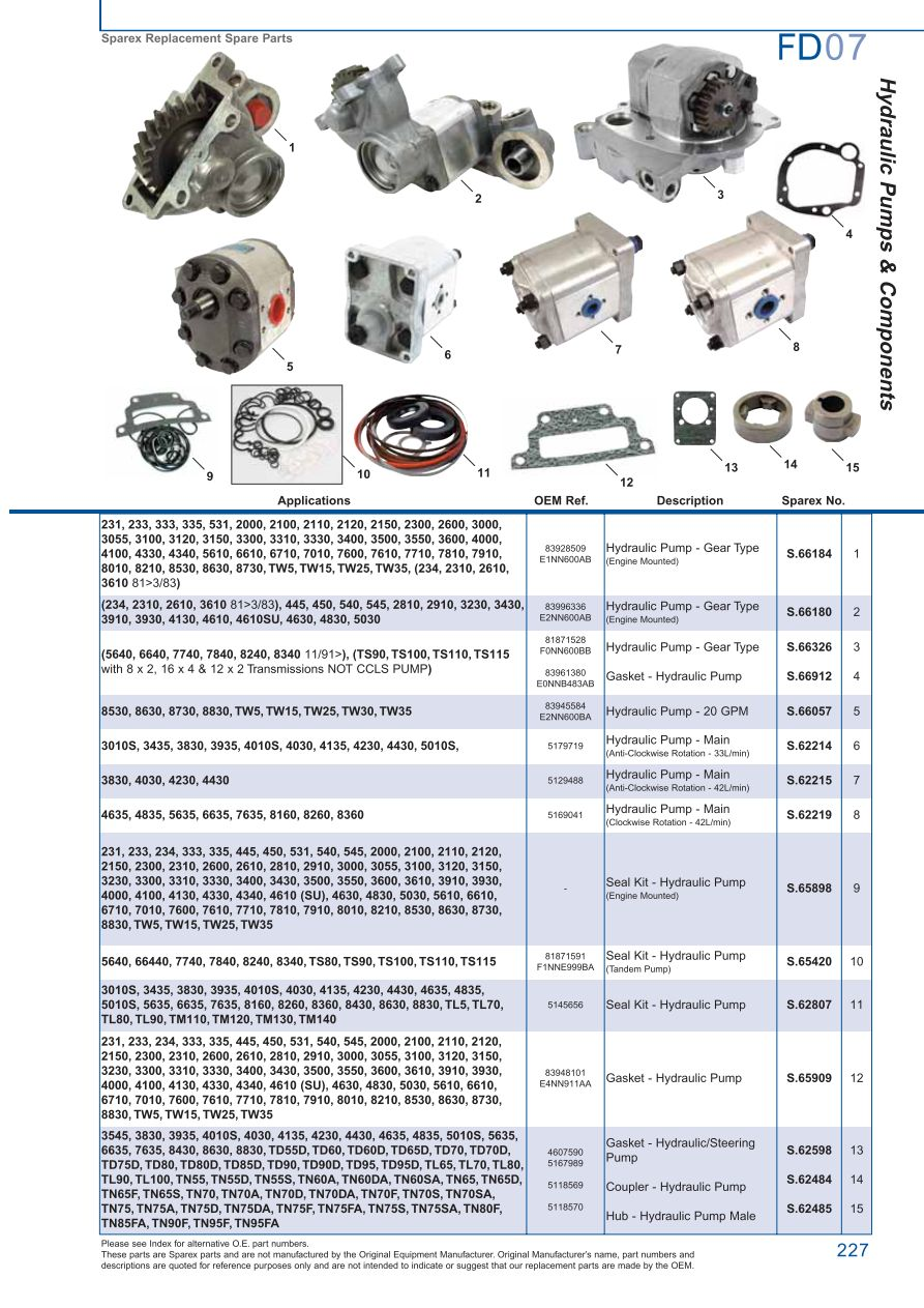 hight resolution of ford hydraulic pumps page 233 sparex parts lists diagrams rh malpasonline co uk hydraulic pump system hydraulic motor schematic