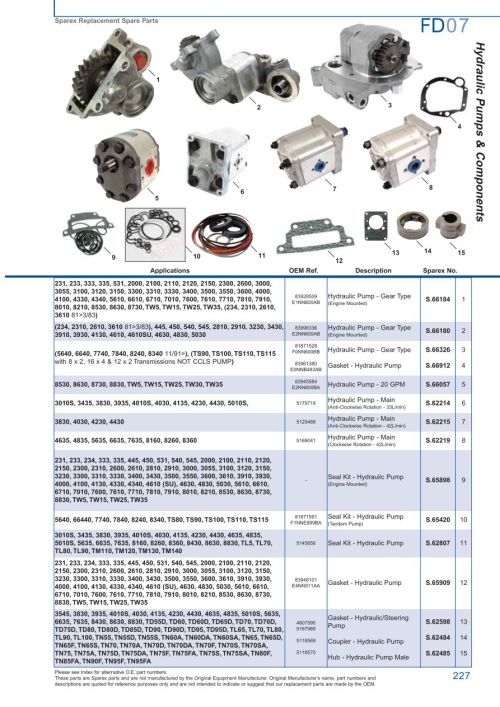 small resolution of ford hydraulic pumps page 233 sparex parts lists diagrams rh malpasonline co uk hydraulic pump system hydraulic motor schematic