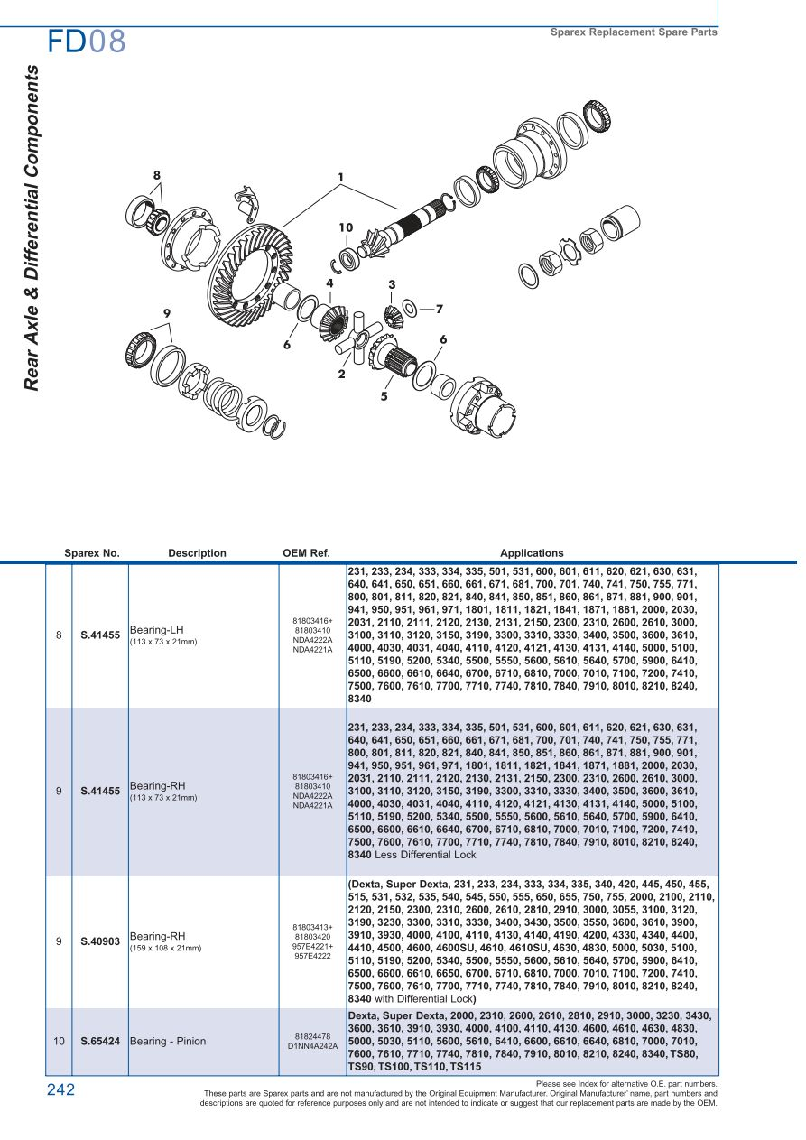 hight resolution of parts lists ford rear axle page 248