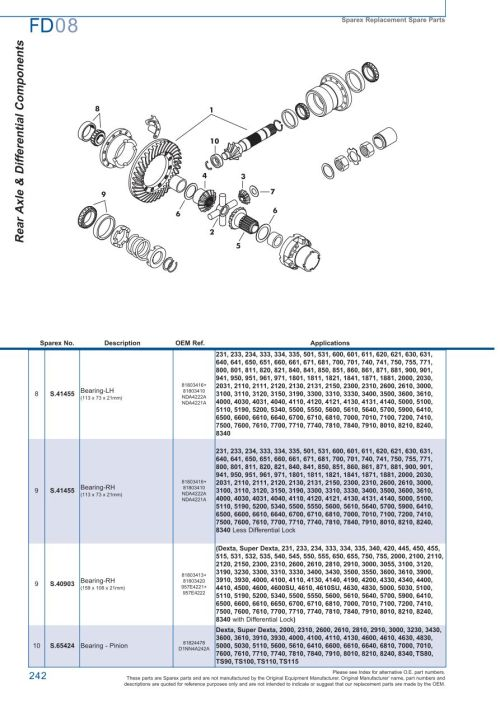small resolution of parts lists ford rear axle page 248