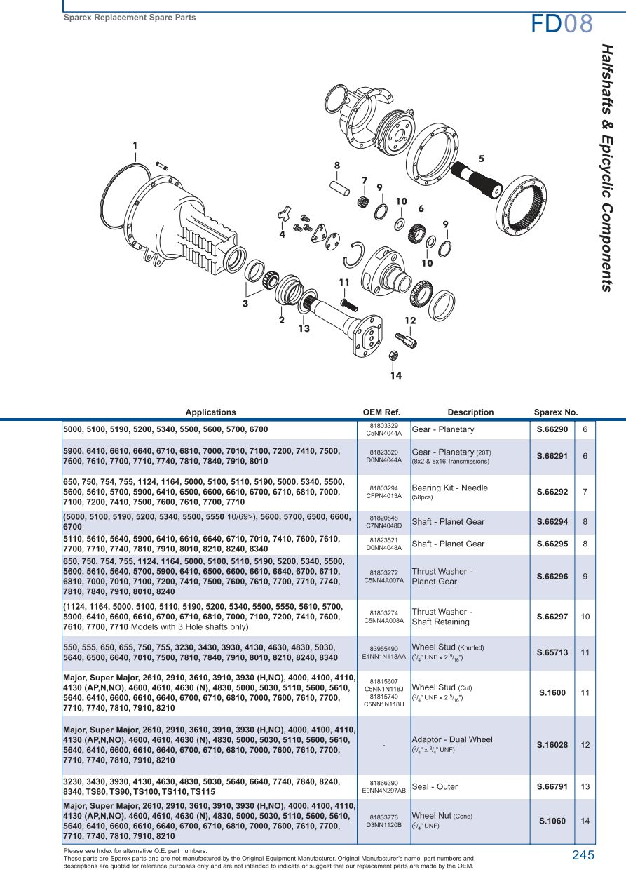 hight resolution of parts lists ford rear axle page 251