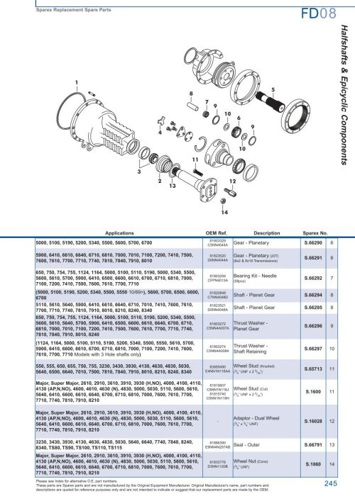 small resolution of parts lists ford rear axle page 251