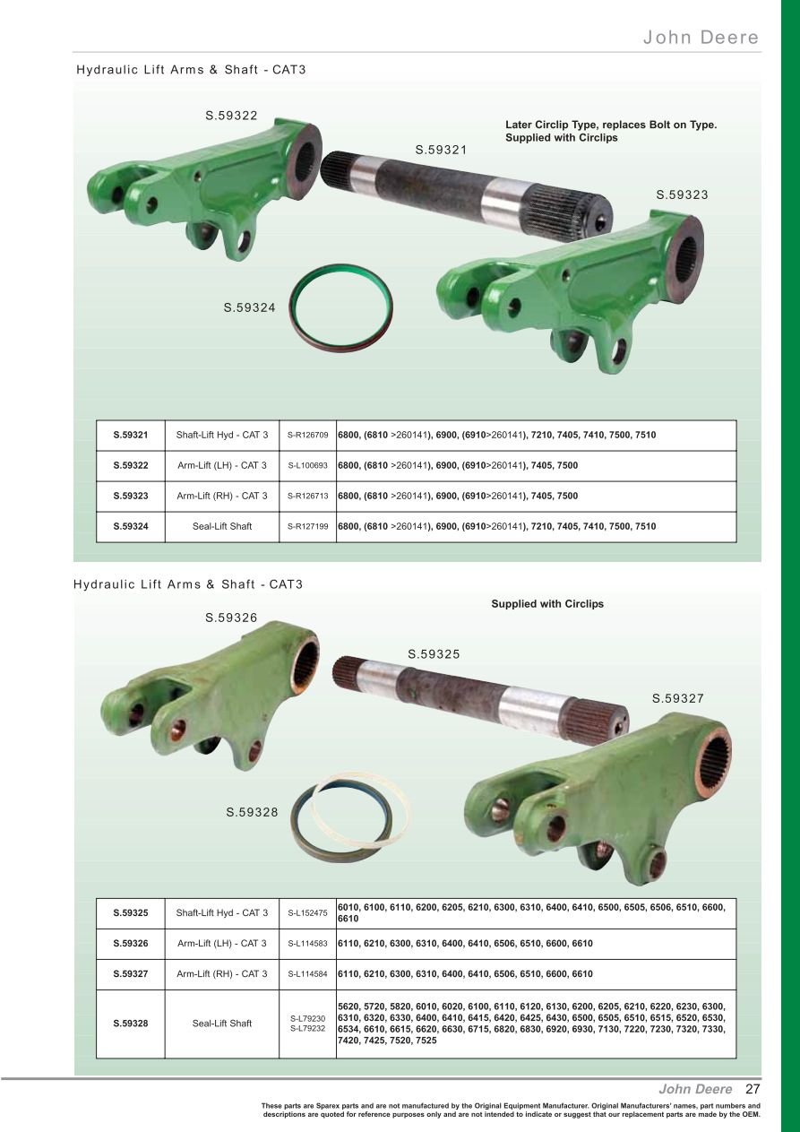 hight resolution of parts lists oe new products front cover page 29 section front cover starter motors