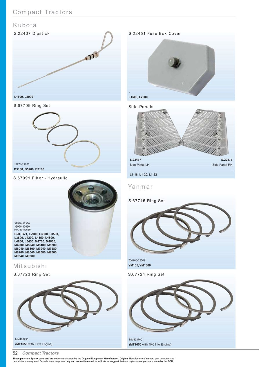 hight resolution of parts lists oe new products front cover page 54