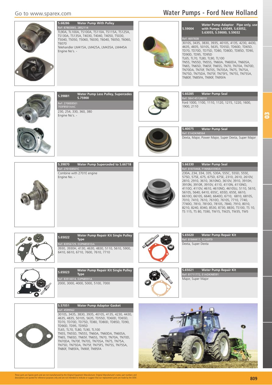 hight resolution of s 700267 tractor parts volume 1 tp03 809