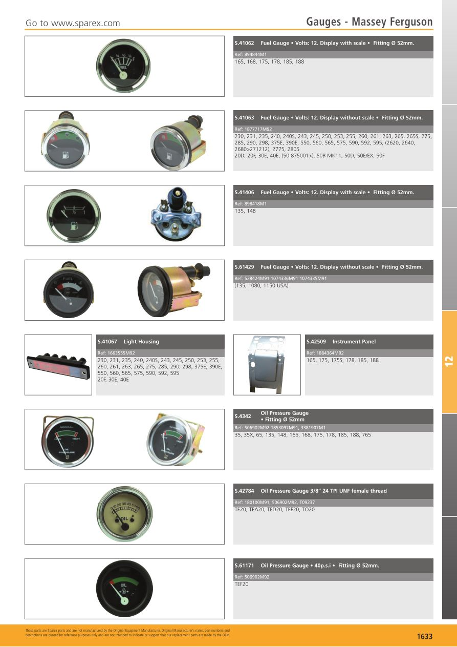 hight resolution of s 700268 tractor parts volume 2 tp12 1633