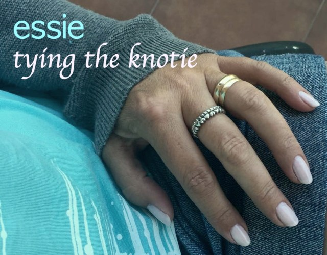Essie tying the knotie
