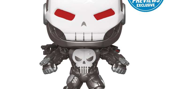 The Punisher Suits Up as War Machine for a New PREVIEWS Exclusive Pop!