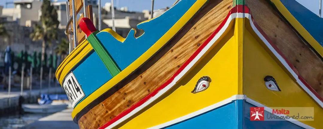 A colourful Maltese fisherman's boat: The luzzu