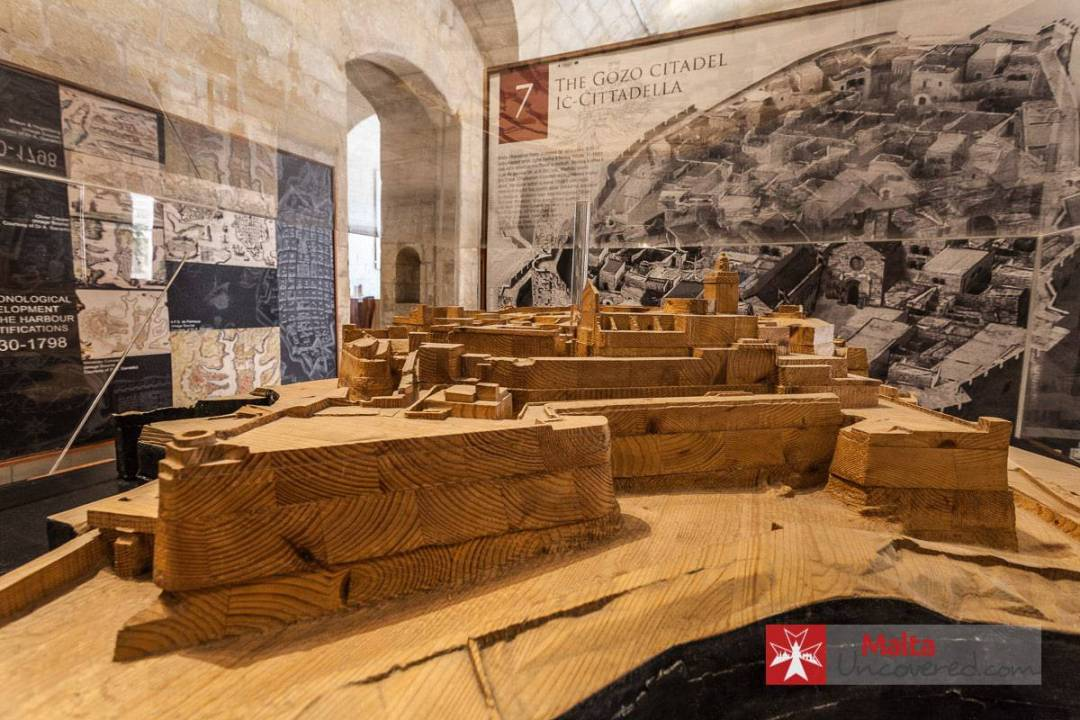 A scale model at the Fortifications Interpretation Centre in Valletta.