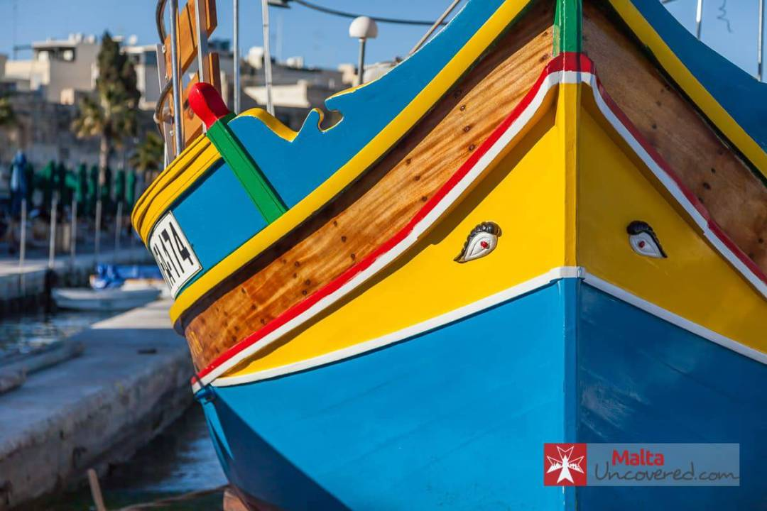 "The ""face"" of a Maltese luzzu boat"
