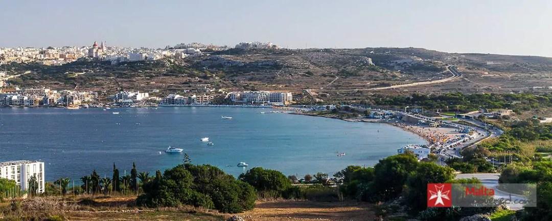 Mellieha Bay / Ghadira in the North of Malta