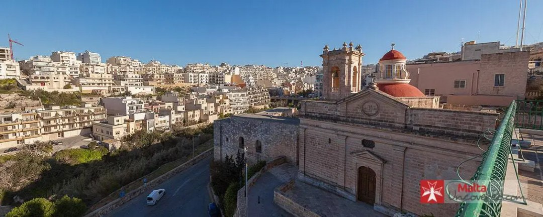 View of Mellieħa from next to the church.