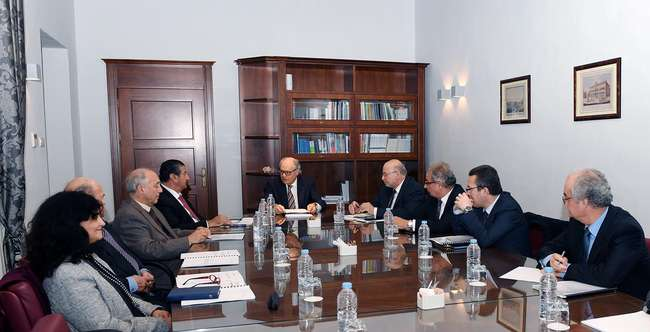 Finance Minister Edward Scicluna addressing the first meeting of the Malta Development Bank