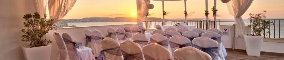 Terraced Wedding Venue in Bugibba Qawra