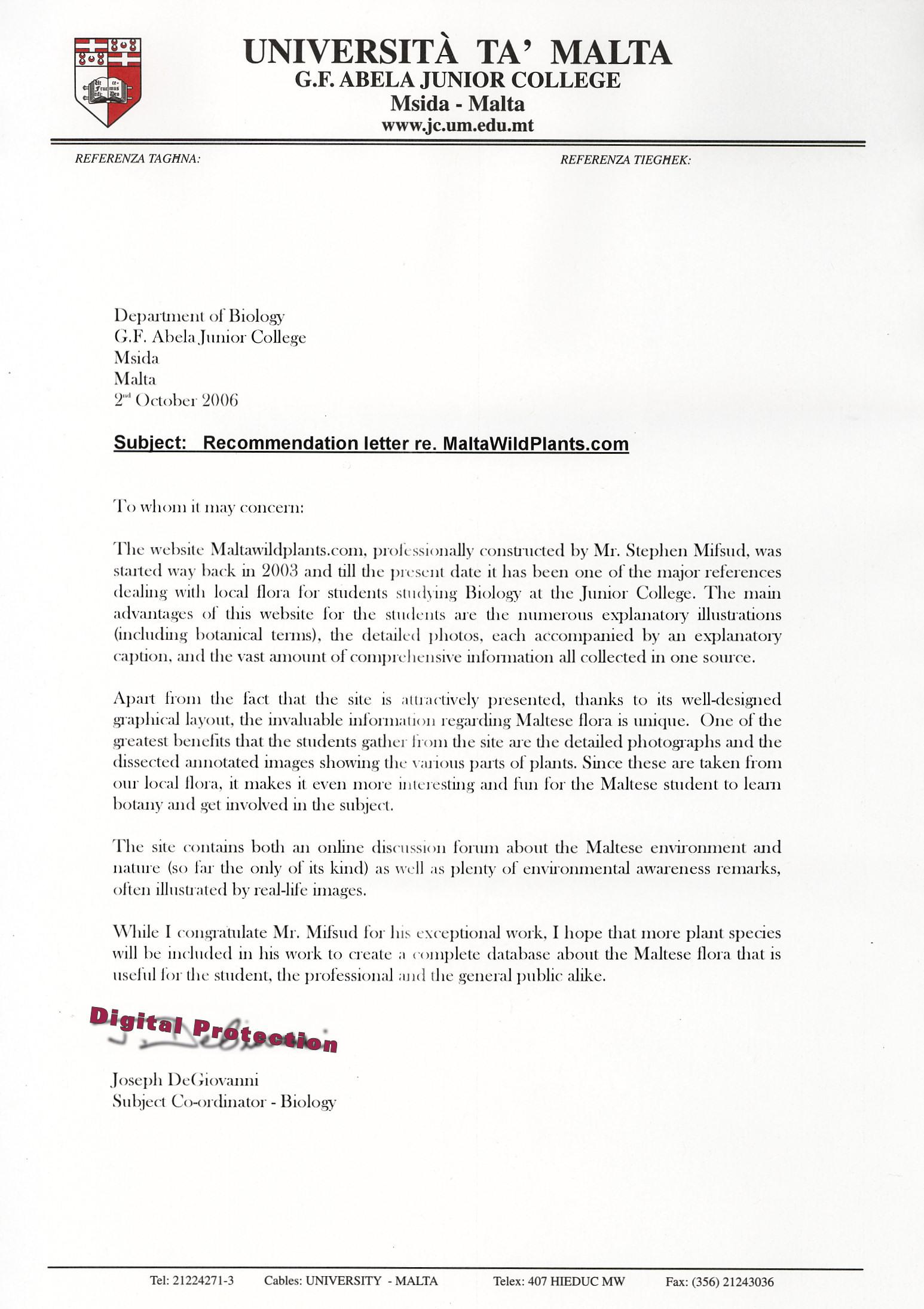 Sample letter of support for promotion to full professor for Teaching dossier template