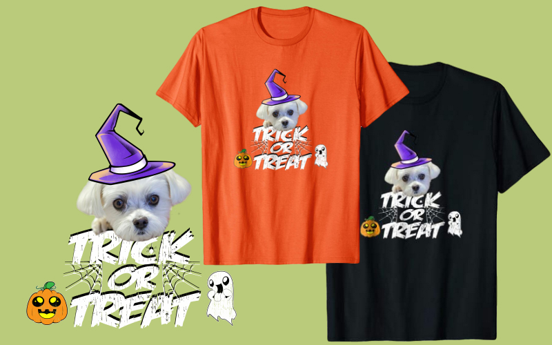 Halloween Maltese Dog Shirts For Maltese Owners