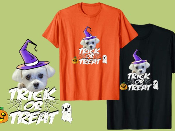 Halloween Maltese Dog Shirts