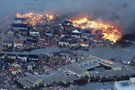 3.11破壊された町